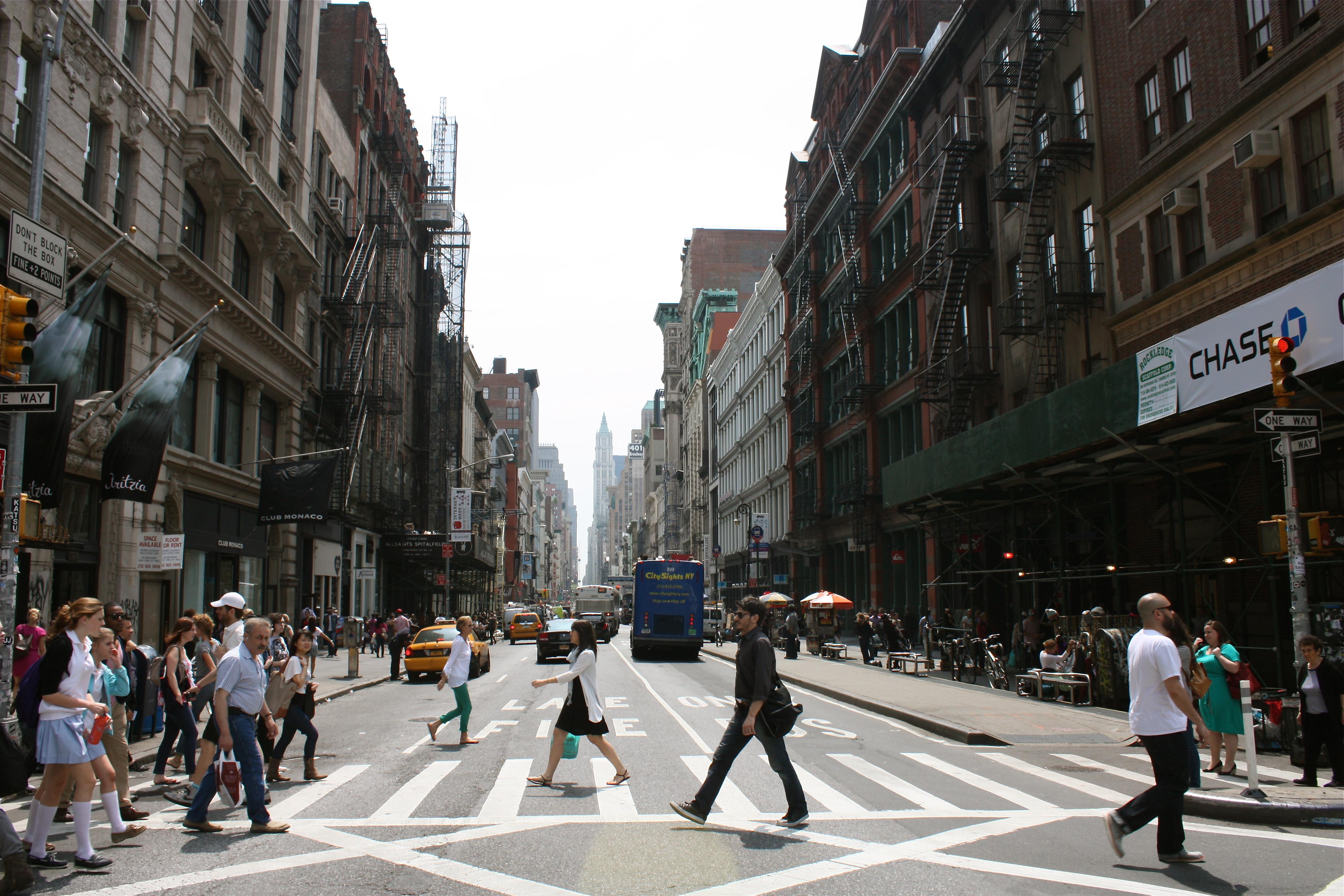 Street Scene Soho NYC ...
